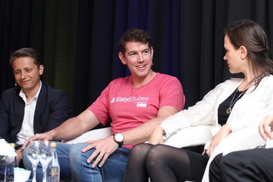 Igor Rodionov, MD of Advicement Investment Services, Shaun Keeling, Olympic rower, and Kristia van Heerden, CEO of JustOneLap.com. Picture: Moneyweb