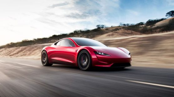 TheSpaceXlaunch of theTesla Roadster, which is planned for January, will also mark a coming out for themuch-awaited Falcon Heavy. Picture: Tesla