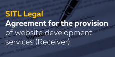 Agreement for the provision of website development services (Receiver)