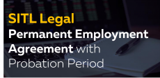Permanent Employment Agreement with Probation Period