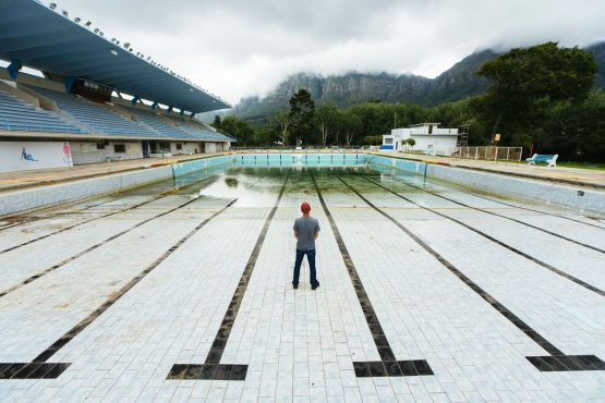 The Newlands municipal swimming pool in Cape Town has been shut. Picture: Waldo Swiegers/Bloomberg