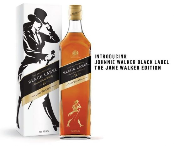 Diageo will donate a dollar from every bottle of Jane Walker produced to organisations that promote women. Picture: Diageo/Bloomberg