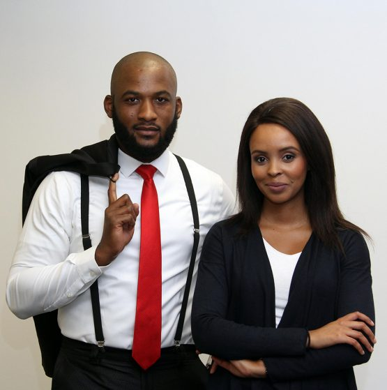 Arabile Gumede and Nastassia Arendse, co-hosts of Classic Business Breakfast with Moneyweb. Picture: Moneyweb