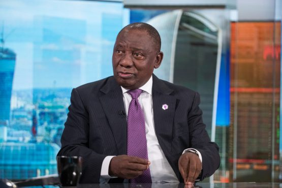 South African President Cyril Ramaphosa. Picture: Bloomberg