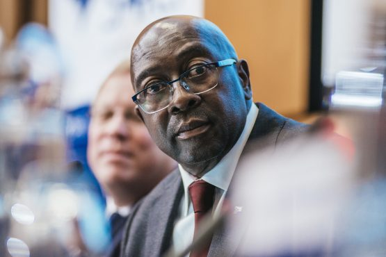 Nene, who was fired as finance minister by President Zuma in December 2015, was reappointed to the position by President Ramaphosa in February. Picture: Waldo Swiegers/Bloomberg