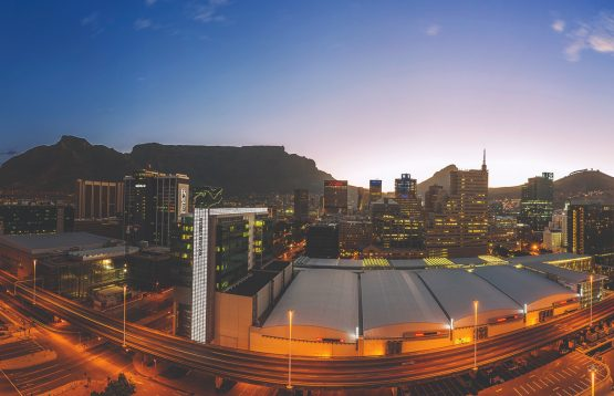 A bird's-eye view over Cape Town and the International Convention Centre. Picture: CTICC