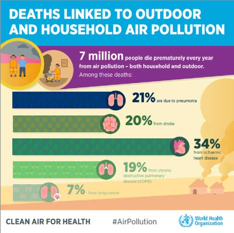Shared Board Cause To Pause: Air Pollution Kills 7 Million People A Year, WHO Reports