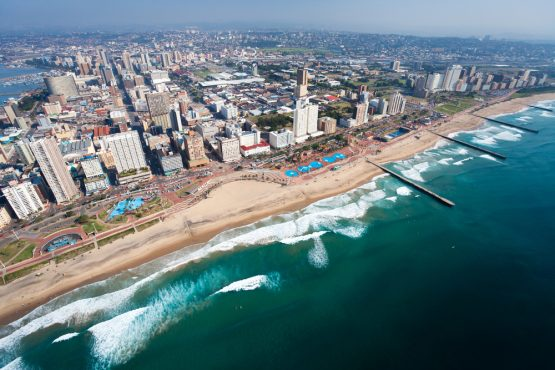 An aerial view of Durban, South Africa. Picture: Shutterstock