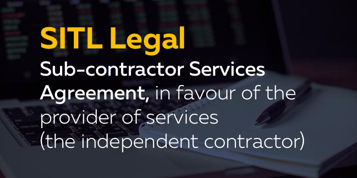 Sub Contractor Services Agreement In Favour Of The Provider Of