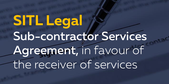 Sub Contractor Services Agreement In Favour Of Receiver Of Services