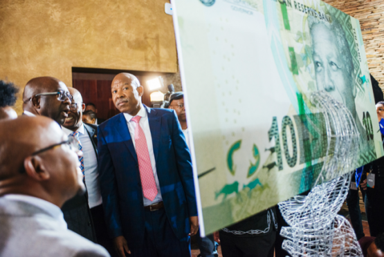 Sarb governor Lesetja Kganyago at the launch of new banknotes and coins commemorating former President Nelson Mandela. Picture: Bloomberg