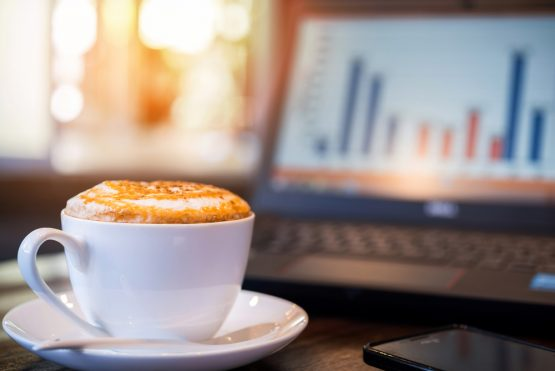 If you're working from home, perhaps you've come to appreciate how easy it is to make your coffee to take to your 'home office'. Image: Shutterstock