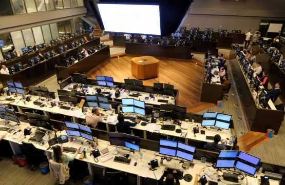 Traders on the floor of Brazil's stock market in downtown São Paulo, Brazil. Picture: Paulo Whitaker/Reuters