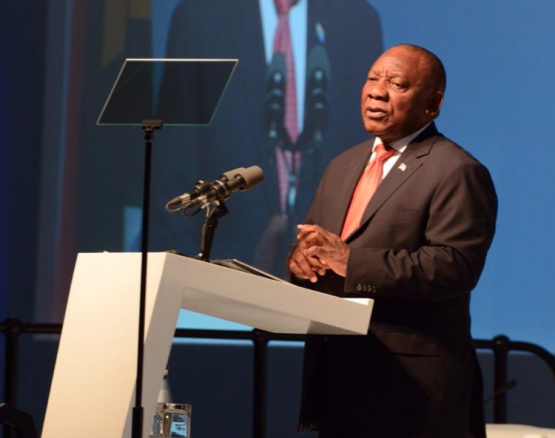 President Cyril Ramaphosa delivers the keynote address at the SA Investment Conference 2018, held in Sandton under the theme: Accelerating growth by building partnerships. Picture: GCIS