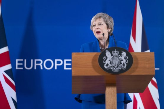 Theresa May in Brussels on November 25. Picture: Jasper Juinen/Bloomberg