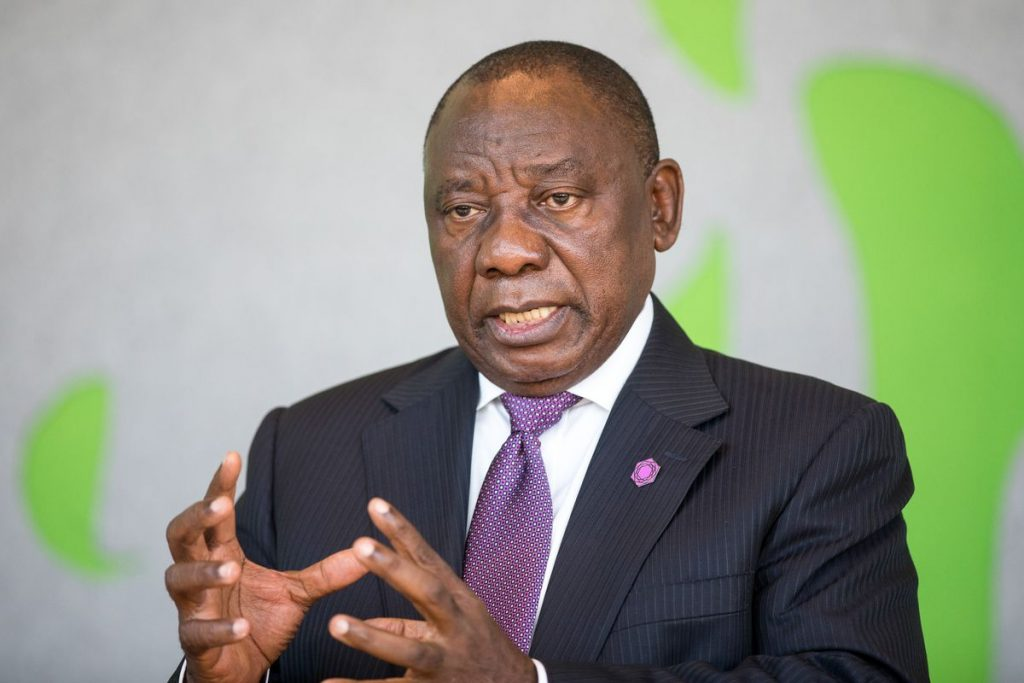 Ramaphosa moves to calm fears on central bank, land ahead of WEF