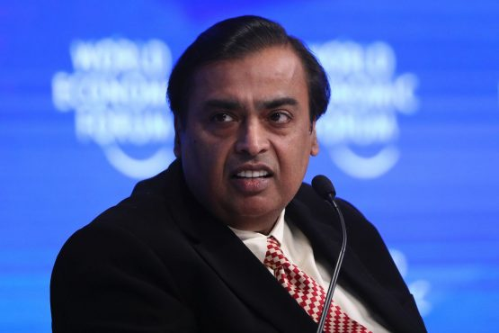 Mukesh Ambani's acquisition is the latest in a string of purchases towards consumer business, combining bricks-and-mortar stores with online investments to counter the US giants. Picture:  Simon Dawson, Bloomberg