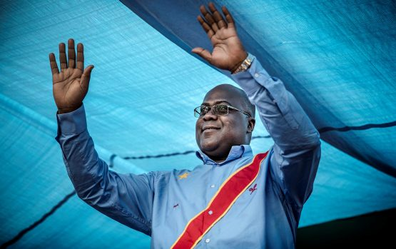 Democratic Republic of Congo's Union for Democracy and Social Progress (Union pour la Democratie et le Progress Social - UDPS) party leader and presidential candidate Felix Tshisekedi. Picture: Luis Tato/AFP/Getty Images