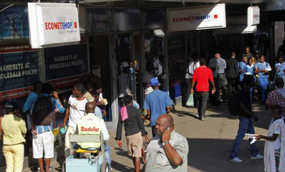 Econet is relying on diesel generators, and says it is becoming 'uneconomical' to guarantee services as power crisis looms. Picture: Philimon Bulawayo, Reuters