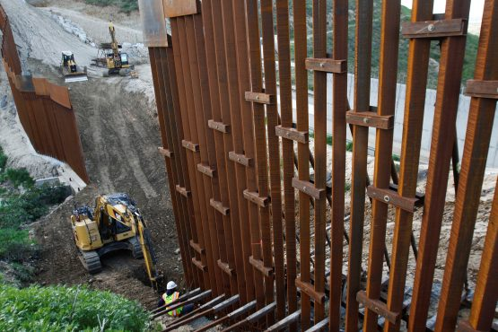 A coalition of US states has sued President Donald Trump over his decision to declare a national emergency to obtain funds for building a wall along the US-Mexico border. Picture: Reuters