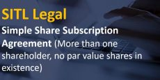 Simple Share Subscription Agreement (More than one shareholder, no par value shares in existence)