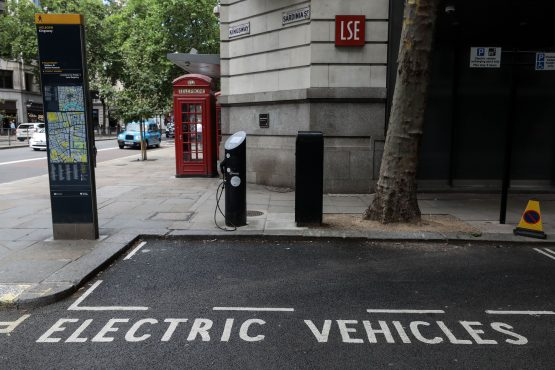 A lack of sufficient charging points is seen as a factor holding back EV adoption, yet low rates of EV penetration mean the economics of building new charging stations are challenging. Picture: Simon Dawson, Bloomberg