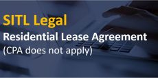 Residential Lease Agreement (CPA does not apply)