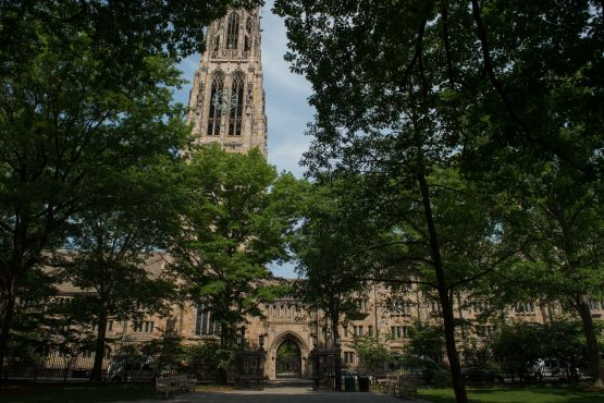 Harkness Tower stands on the Yale University campus in New Haven, Connecticut, US. Image: Bloomberg