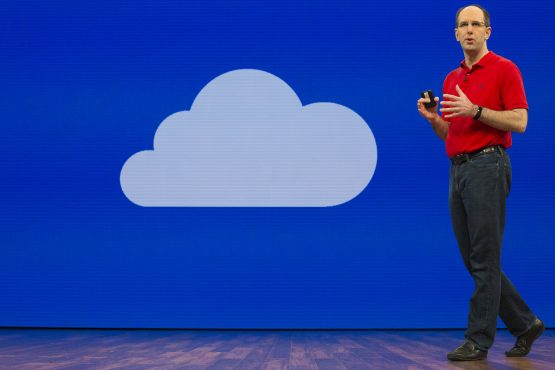 Temenos, working with Microsoft Azure, was the first to put core banking in the cloud. Pictured: Scott Guthrie, executive VP of cloud at Microsoft, which has focused investments on Azure cloud services. Source: David Ryder/Bloomberg