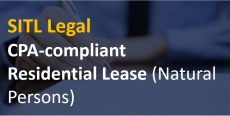 CPA-compliant Residential Lease (Natural Persons)