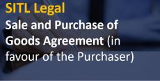 Sale and Purchase of Goods Agreement (in favour of the Purchaser)