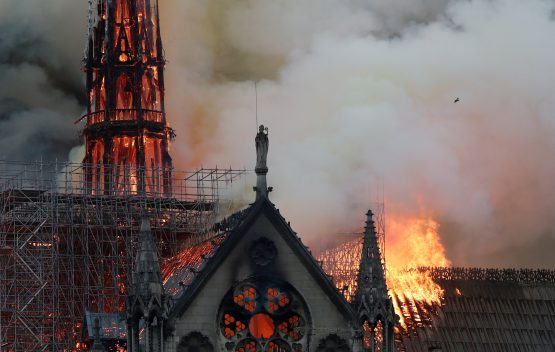 A number of billionaires and companies have pledged donations for rebuild the eight-centuries-old cathedral. Picture: Benoit Tessier, Reuters