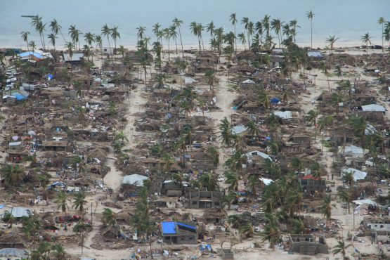 The aftermath of Cyclone Kenneth is seen in Macomia District, Cabo Delgado province, Mozambique on April 27, 2019. Image: Saviano Abreu, Reuters