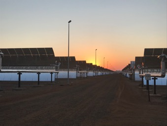 A thermal plant that uses mirrors, steam and molten salt, Kathu Solar Park's turbines keep spinning long after the sun has set. Picture: Supplied
