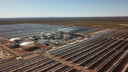 The 100MW plant started producing electricity for the national grid on January 30, 2019. Picture: Supplied