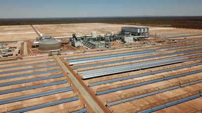 The molten salt 'battery' is tapped by heat exchangers to keep the turbines spinning even when there's no sun. Picture: Supplied