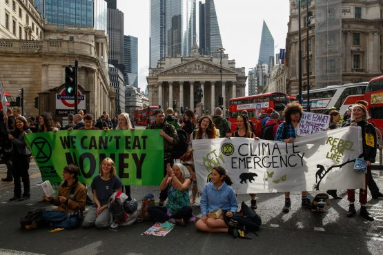Goldman Sachs targeted in latest Extinction Rebellion protest - Moneyweb