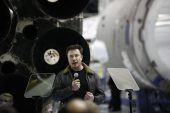 Musk gets head start on Bezos launching SpaceX's satellites