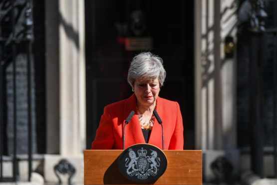 Theresa May announces her resignation outside number 10 Downing Street on May 24. Picture: Chris J Ratcliffe/Bloomberg