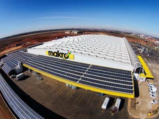 The solar installation at Makro Carnival on the East Rand was created to generate 60-80% of the store's energy needs during the day. Companies are however urged to take sound independent advice before plunging into self-generation solutions. Picture: Supplied