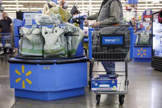 Walmart which has been streamlining its digital business to curb ongoing losses also sees a 37% increase in web sales. Picture: Patrick T. Fallon, Bloomberg