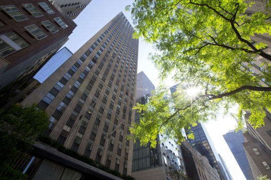 75 Rockefeller Plaza, of which Airbnb now owns 10 floors. Picture: Jin Lee, Bloomberg