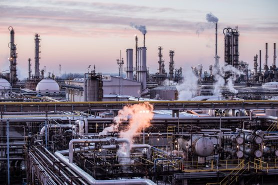Vapour rises from oil processing and refining structures in the Duna oil refinery, operated by MOL Hungarian Oil and Gas, in Szazhalombatta, Hungary. Picture: Akos Stiller/Bloomberg