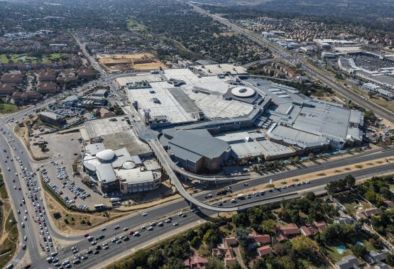 The massive new-look Fourways Mall – 'a 10-year vision finally being realised' for the property fund. Picture: Supplied