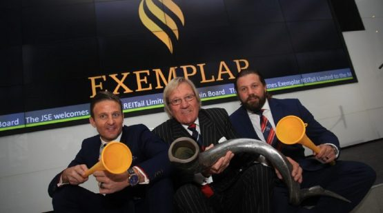 The McCormicks at the listing of Exemplar in June 2018 – (from left): Jason, John and Matthew McCormick. Picture: Supplied