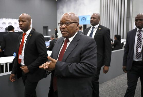 Former South African President Jacob Zuma says due process was followed in the appointment of Transnet CEO, Siyabonga Gama. Picture: Kim Ludbrook, Pool via Reuters
