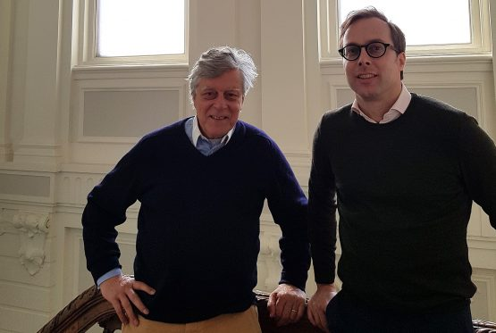 Managing director Jeroen van Eeghen (right) hails from the 15th generation of the dynasty, having taken over in 2012 from Willem (left), a cousin of his father. Picture: Tom Metcalf, Bloomberg