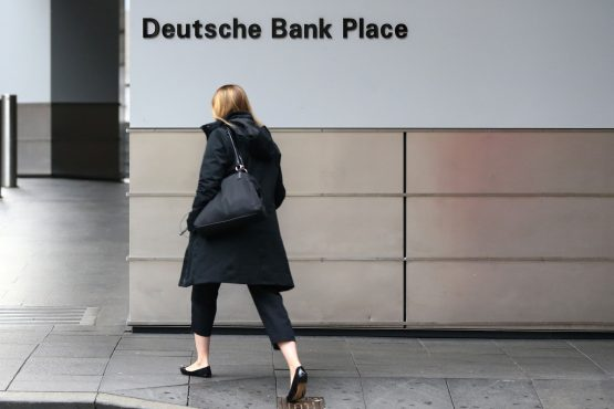 Recently, shares in Deutsche Bank hit a record low below 6 euros. In 2007, before the global financial crisis took hold, the shares peaked at above 90 euros. Picture: Getty