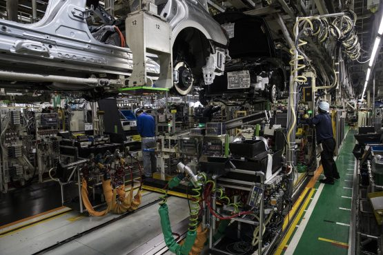 The sector aims to achieve 1% of global vehicle production by 2035 (1.4m units a year, up from just over 600 000 currently). Image: Shiho Fukada, Bloomberg