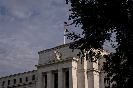 The US Federal Reserve building, in Washington, DC, US Image: Andrew Harrer/Bloomberg